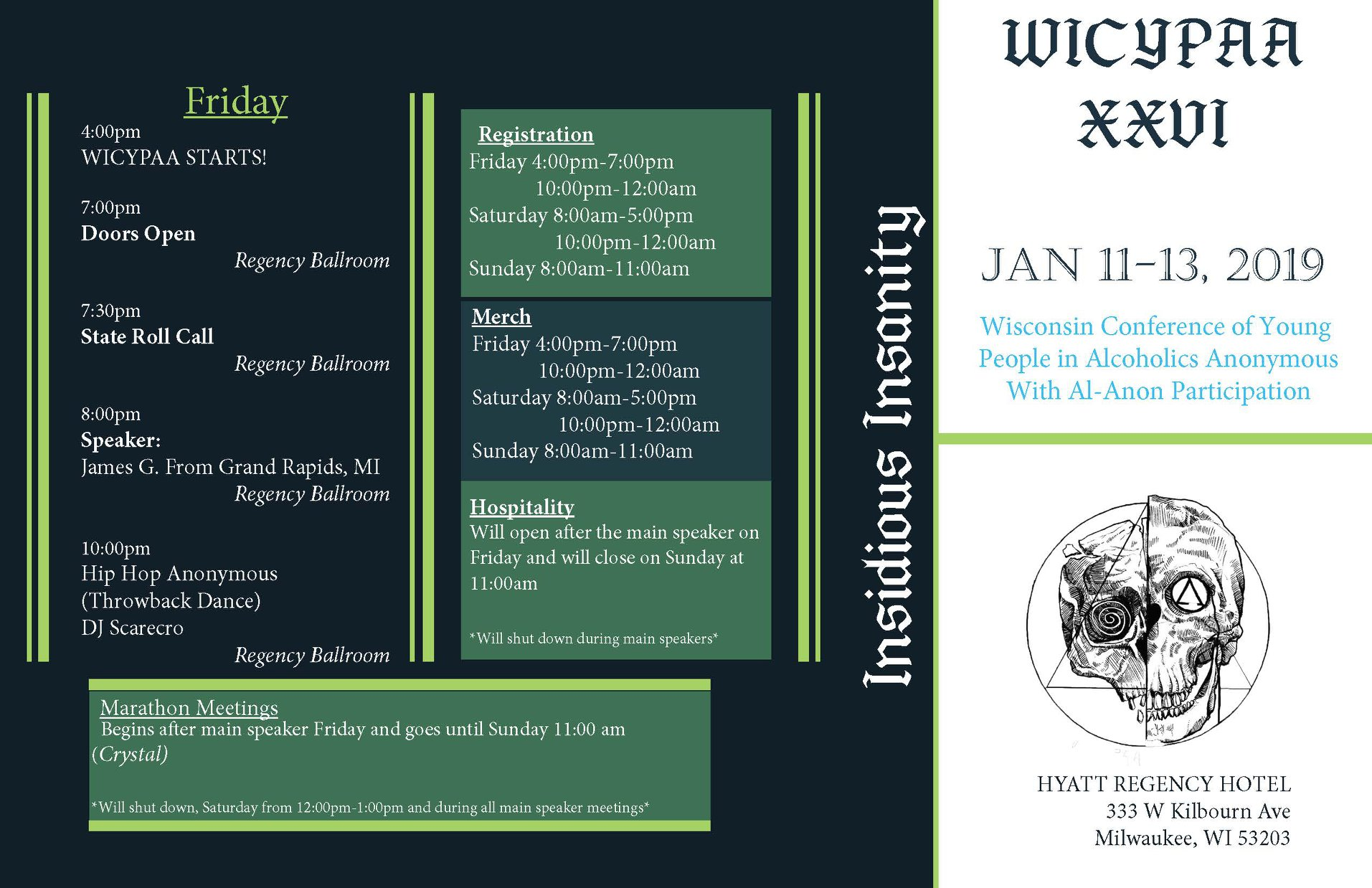 WICYPAA XXVI Program Side1
